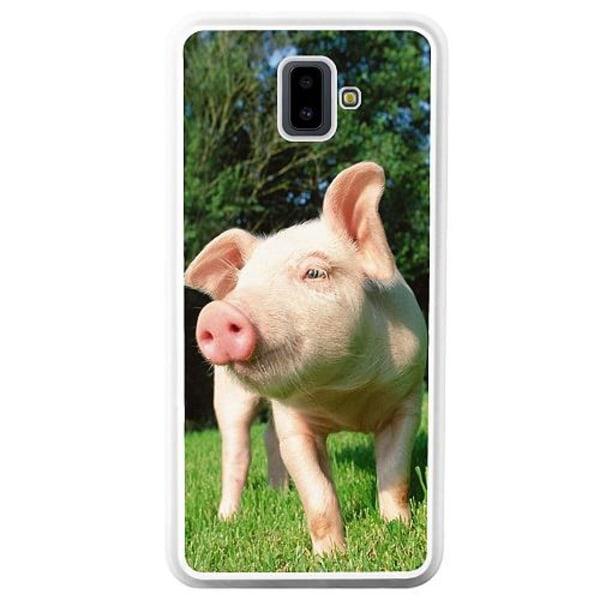 Samsung Galaxy J6 Plus (2018) Soft Case (Vit) Pig