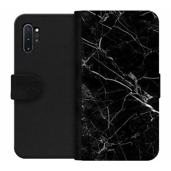 Samsung Galaxy Note 10 Plus Wallet Case black marble