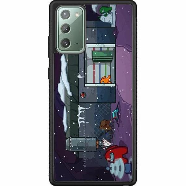 Samsung Galaxy Note 20 Soft Case (Svart) Among Us