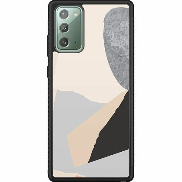 Samsung Galaxy Note 20 Soft Case (Svart) Cut In Half
