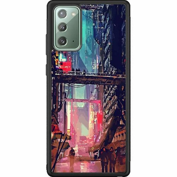 Samsung Galaxy Note 20 Soft Case (Svart) Cyberpunk 2077