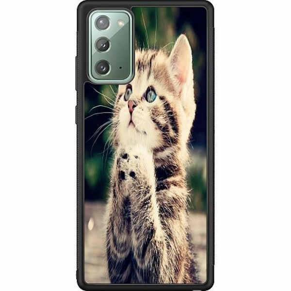 Samsung Galaxy Note 20 Soft Case (Svart) Katt