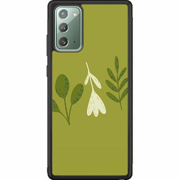 Samsung Galaxy Note 20 Soft Case (Svart) Simplicity Greens