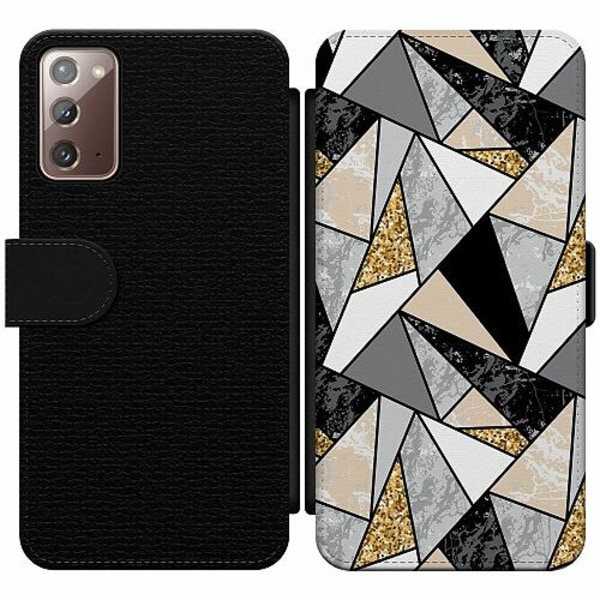 Samsung Galaxy Note 20 Wallet Slim Case Marble Print