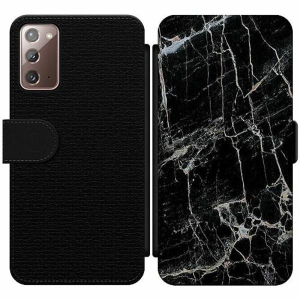 Samsung Galaxy Note 20 Wallet Slim Case Marmor Svart