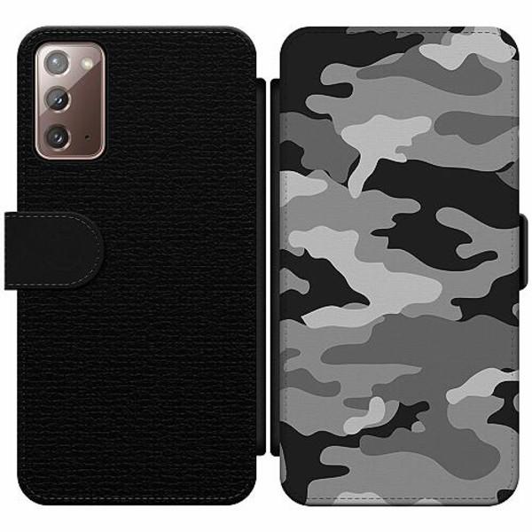 Samsung Galaxy Note 20 Wallet Slim Case Military B/W