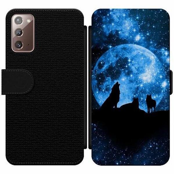 Samsung Galaxy Note 20 Wallet Slim Case Moon Wolves