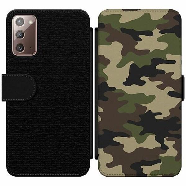 Samsung Galaxy Note 20 Wallet Slim Case Woodland Camo