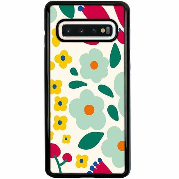 Samsung Galaxy S10 Duo Case Svart Baby Flowers