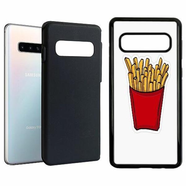 Samsung Galaxy S10 Duo Case Svart Fries In Red