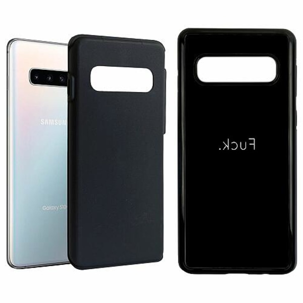 Samsung Galaxy S10 Duo Case Svart >FUCK<