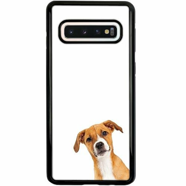 Samsung Galaxy S10 Duo Case Svart PopUp Dog
