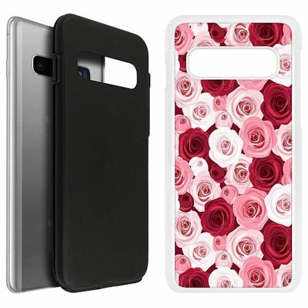 Samsung Galaxy S10 Duo Case Vit Blommor