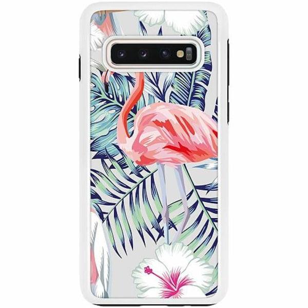 Samsung Galaxy S10 Duo Case Vit Flamingo