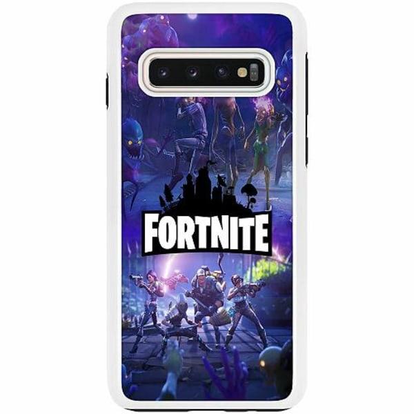 Samsung Galaxy S10 Duo Case Vit Fortnite Gaming