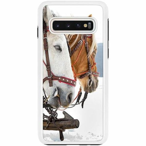 Samsung Galaxy S10 Duo Case Vit Häst / Horse