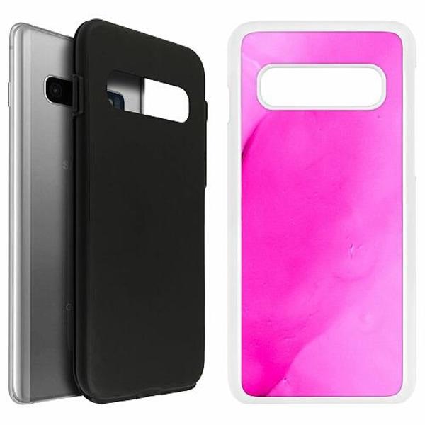Samsung Galaxy S10 Duo Case Vit Pinksknip