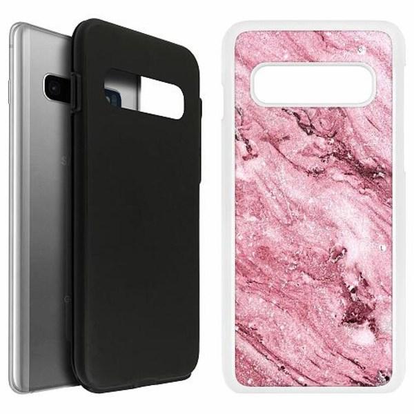 Samsung Galaxy S10 Duo Case Vit Rosa