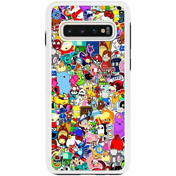 Samsung Galaxy S10 Duo Case Vit Stickers