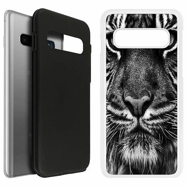 Samsung Galaxy S10 Duo Case Vit Tiger