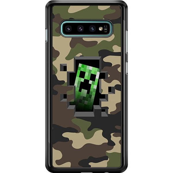 Samsung Galaxy S10 Hard Case (Black) Minecraft