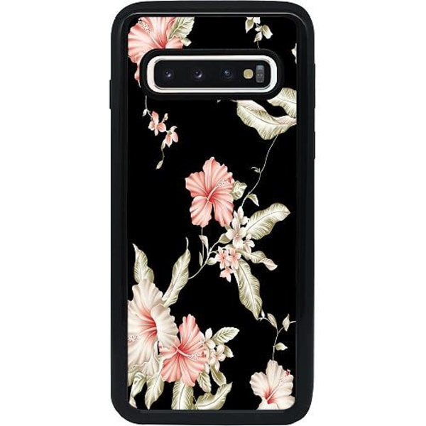 Samsung Galaxy S10 Heavy Duty 2IN1 Blommor