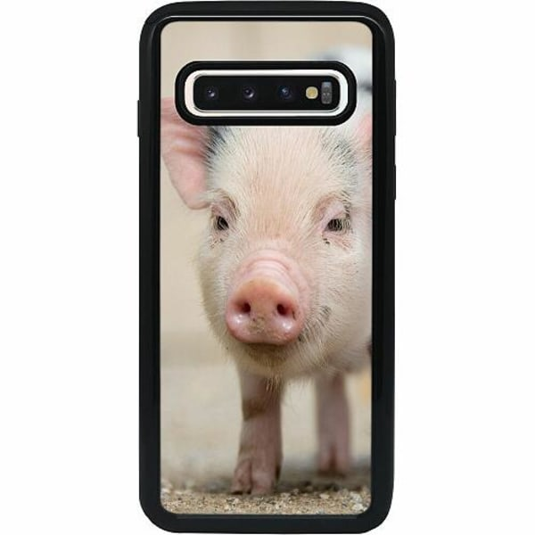 Samsung Galaxy S10 Heavy Duty 2IN1 Happy Pig