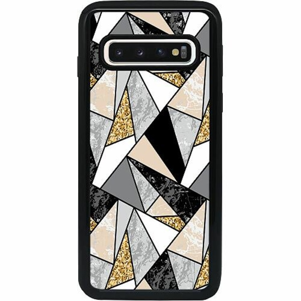 Samsung Galaxy S10 Heavy Duty 2IN1 Marble Print