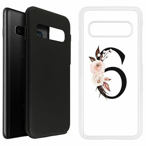 Samsung Galaxy S10 Plus Duo Case Vit Bokstäver