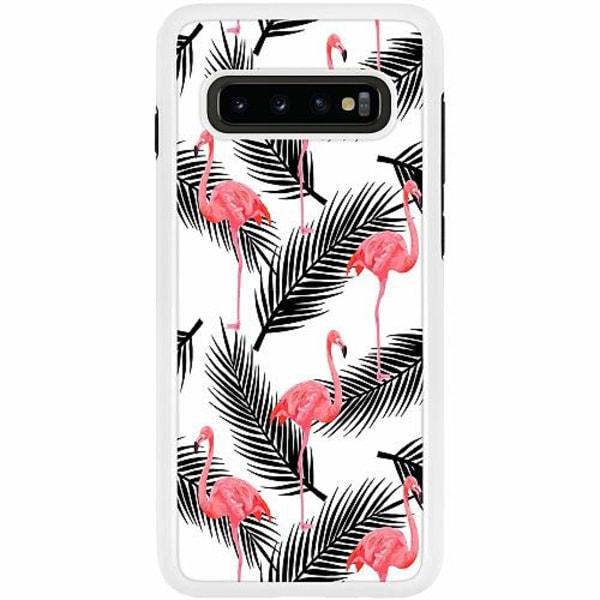 Samsung Galaxy S10 Plus Duo Case Vit Flamingo