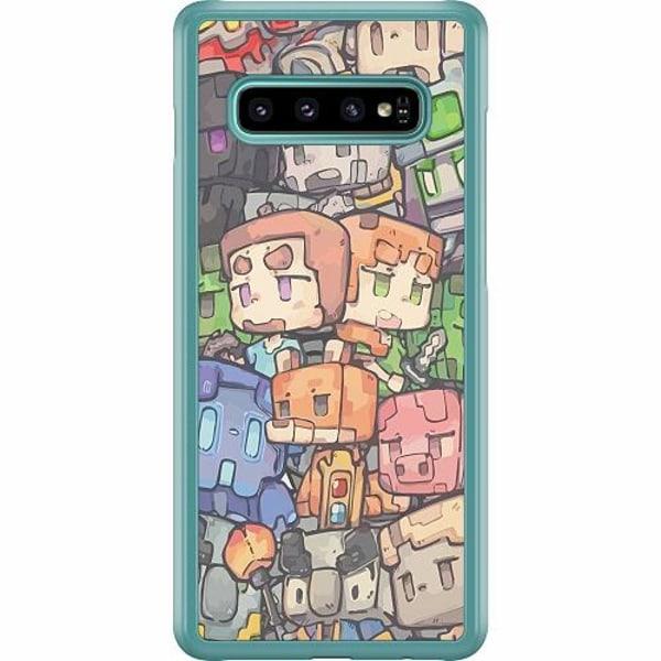 Samsung Galaxy S10 Plus Hard Case (Transparent) MineCraft