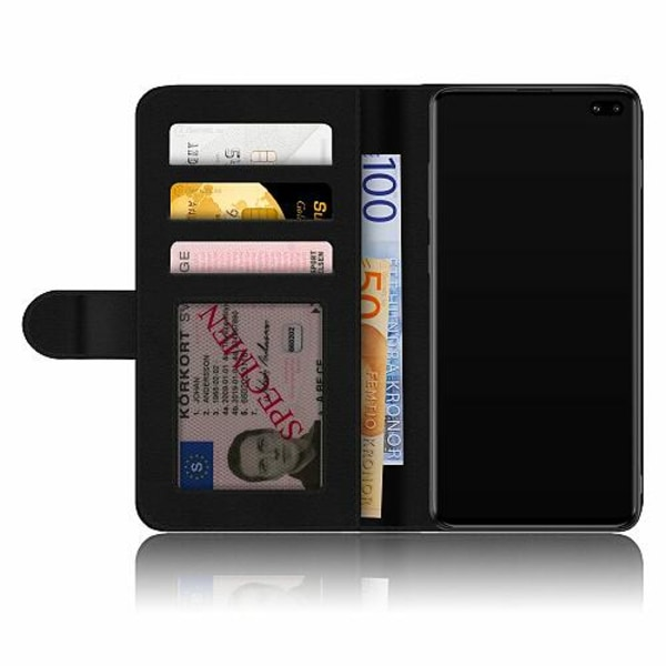 Samsung Galaxy S10 Plus Plånboksskal Orange Zebra