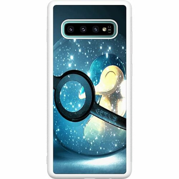 Samsung Galaxy S10 Plus Soft Case (Vit) Pokemon