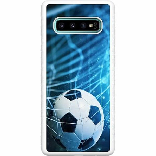 Samsung Galaxy S10 Plus Soft Case (Vit) VM Fotboll 2018