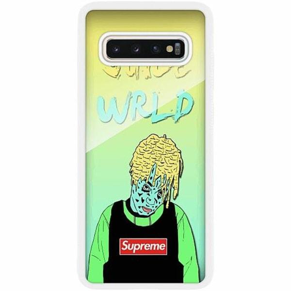Samsung Galaxy S10 Plus Vitt Mobilskal med Glas Juice WRLD