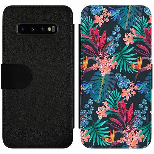 Samsung Galaxy S10 Plus Wallet Slim Case Jungle Vibe