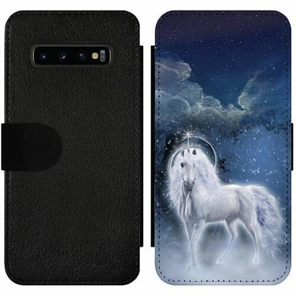 Samsung Galaxy S10 Plus Wallet Slim Case Unicorn