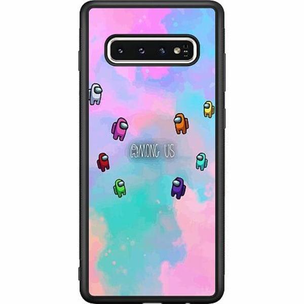 Samsung Galaxy S10 Soft Case (Svart) Among Us