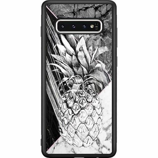 Samsung Galaxy S10 Soft Case (Svart) Ananas