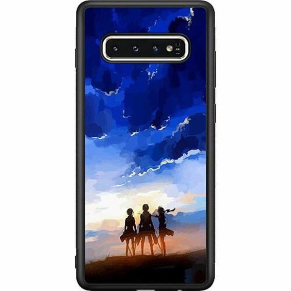 Samsung Galaxy S10 Soft Case (Svart) Attack On Titan