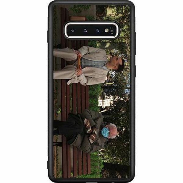 Samsung Galaxy S10 Soft Case (Svart) Bernie Sanders Meme