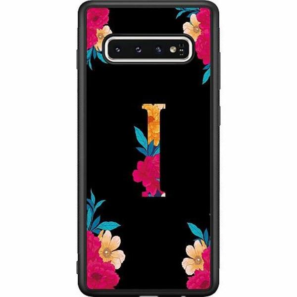 Samsung Galaxy S10 Soft Case (Svart) Bokstaven - I