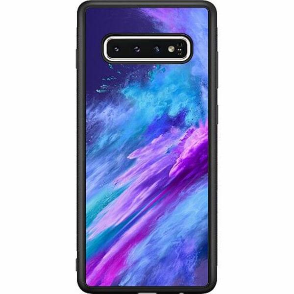 Samsung Galaxy S10 Soft Case (Svart) Crashing Purples