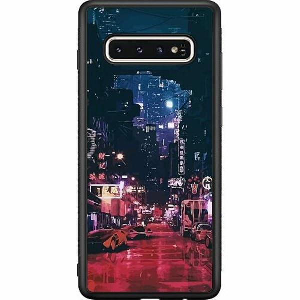 Samsung Galaxy S10 Soft Case (Svart) Cyberpunk 2077