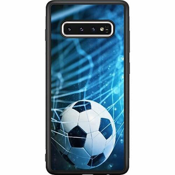Samsung Galaxy S10 Soft Case (Svart) Fotboll