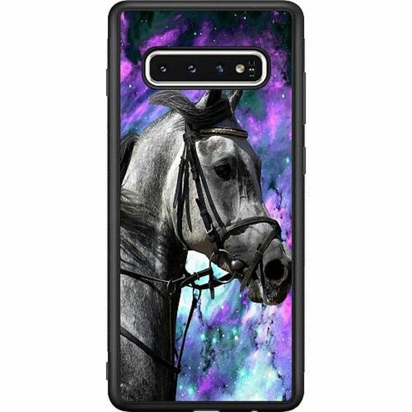 Samsung Galaxy S10 Soft Case (Svart) Häst