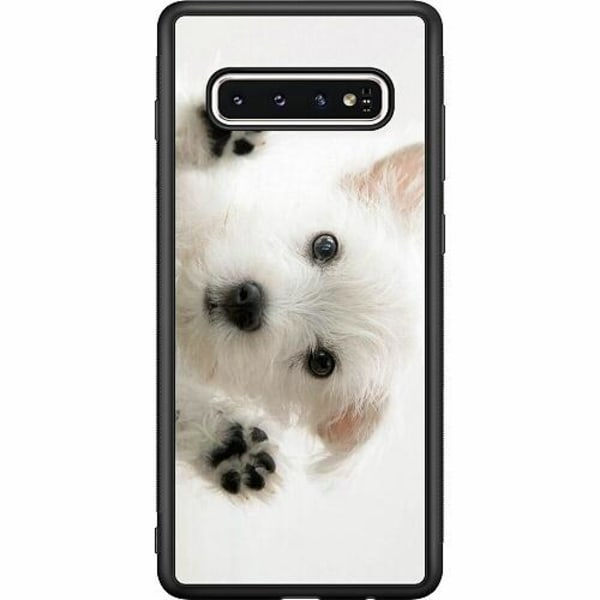 Samsung Galaxy S10 Soft Case (Svart) Hund
