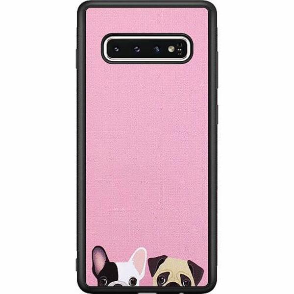 Samsung Galaxy S10 Soft Case (Svart) Hundar