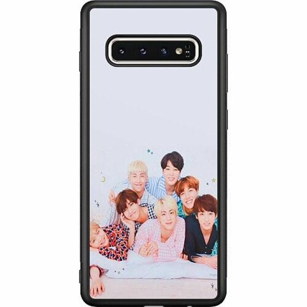 Samsung Galaxy S10 Soft Case (Svart) K-POP BTS