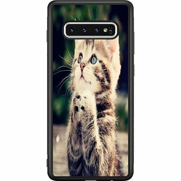 Samsung Galaxy S10 Soft Case (Svart) Katt